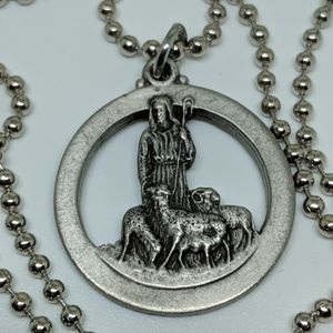 Jewelry - Vintage Robert Schuller Religious Medal Necklace
